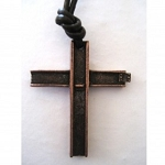 Ground Zero Large Bronze Cross Necklace