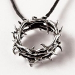Crown of Thorns Sterling Silver Necklace