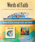 Words of Faith - A Coloring Book to Bless and De-Stress with CD