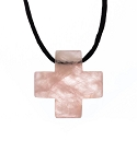 Rose Quartz Cross Necklace