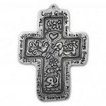 All Things Bright Pewter Cross
