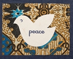 Batik Peace Dove Card
