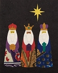 Batik Wise Men Card