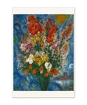Chagall Bouquet Light Up the Sky Greeting Card