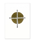 Cross with Gold Greeting Card