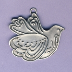 Dove Ornament - Pewter