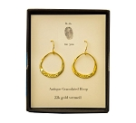 Granulated Hoop Earring Pair Gold Vermeil