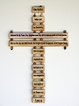 Lord's Prayer Olivewood Cross