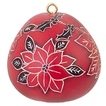 Ornament Mini Pointsettia Gourd