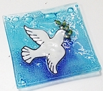 Plate Square Dove Med