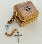 Olive Wood Rosary In a Box