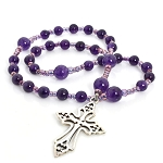 Amethyst Anglican Prayer Beads