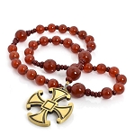 Carnelian Anglican Prayer Beads