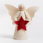 Angel Tree Topper Red Star