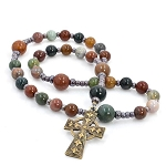 Fancy Jasper Anglican Prayer Beads