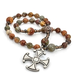 Red Creek Jasper Anglican Prayer Beads