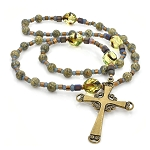 Russian Serpentine & Czech Glass Anglican Prayer Beads