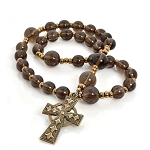 Smoky Quartz  Anglican Prayer Beads
