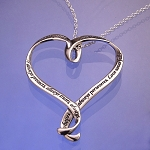 Love is Patient Heart Necklace