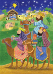 Wise Men Advent Calendar Greeting Card