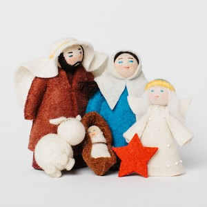Nativity Handmade Felted Wool 5pc.