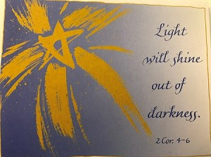 Light/Darkness Holiday Card