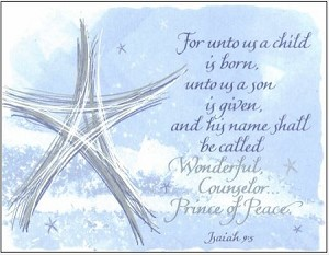 For Unto Us Isaiah 9 Card