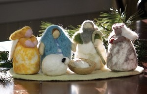 Cozy Felted Nativity
