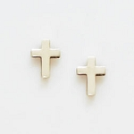 Sterling Silver Cross Earrings - Small Simple