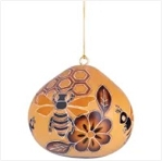 Bee Hive Gourd Ornament