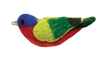 Painted Bunting Wild Woolie Ornament