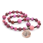Pink Crazy Lace Anglican Prayer Beads
