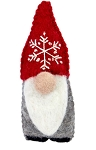 Snowflake Gnome Felted Wool Ornament